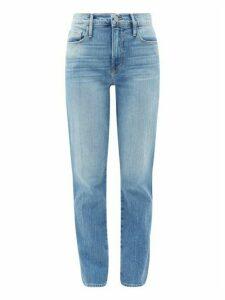 Frame - Le Sylvie High-rise Straight-leg Jeans - Womens - Light Denim