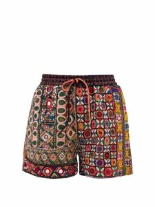 Ashish - Mirror-embroidered Shorts - Womens - Multi