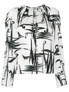 Balenciaga graphic print blouse - White