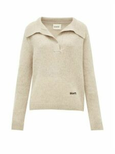 Khaite - Marisa Open-collar Cashmere Sweater - Womens - Beige