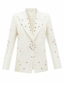 Paco Rabanne - Embellished Single-breasted Wool Jacket - Womens - Ivory