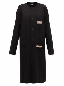 Raf Simons - Collarless Cotton-jersey Dress - Womens - Black