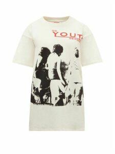 Raf Simons - Youth-print Cotton-jersey T-shirt - Womens - Ivory