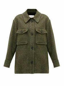Isabel Marant Étoile - Garvey Wool Shirt Jacket - Womens - Green
