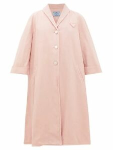 Prada - Oversized Denim Coat - Womens - Light Pink