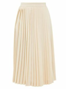Prada - High-rise Knife-pleated Wrap Skirt - Womens - Ivory