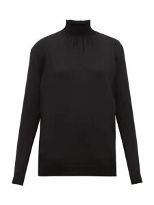 Prada - Shirred-neck Wool Sweater - Womens - Black