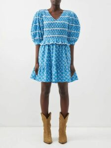 Gucci - GG-jacquard Wool Cape - Womens - Beige Multi