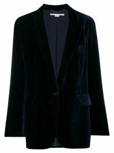 Stella McCartney velvet button blazer - Blue