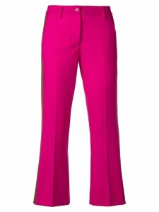 P.A.R.O.S.H. cropped side stripe trousers - PINK