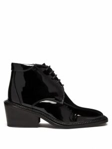 Martine Rose - Vin Square-toe Patent-leather Boots - Womens - Black