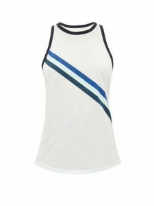 LNDR - Striped Cotton-jersey Tank Top - Womens - White Print
