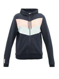 LNDR - Chill Pop Cotton-jersey Hooded Sweatshirt - Womens - Navy White