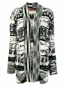 Missoni pixelated pattern cardigan - White
