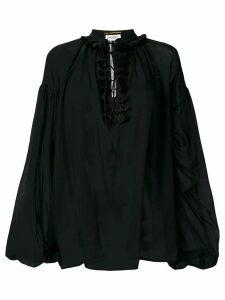Saint Laurent sheer loose blouse - Black