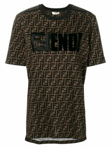Fendi FF motif printed T-shirt - Brown