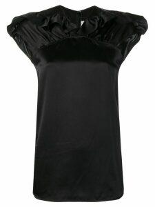 Victoria Victoria Beckham frill trim satin top - Black