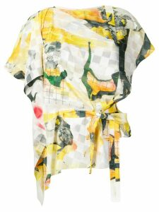 Chalayan knot detail blouse - Yellow