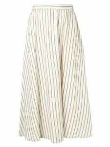 Lorena Antoniazzi long striped skirt - NEUTRALS