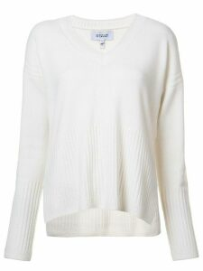 Derek Lam 10 Crosby Wooster V-Neck Sweater - White