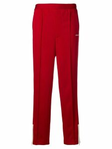 AMBUSH side stripe track trousers - Red