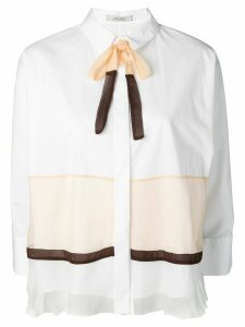 Dorothee Schumacher colour-block fitted shirt - White