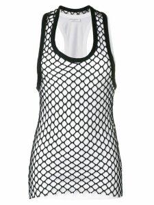 Sonia Rykiel mesh-detail tank top - White