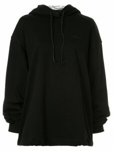 Juun.J embroidered logo hoodie - Black