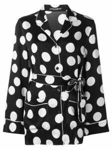Dolce & Gabbana polka dot pyjama shirt - Black