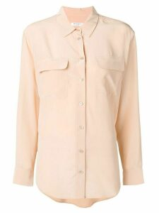 Equipment classic satin shirt - NEUTRALS