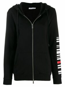 Quantum Courage back logo zipped hoodie - Black