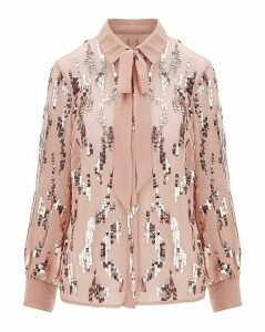Joanna Hope Sequin Blouse