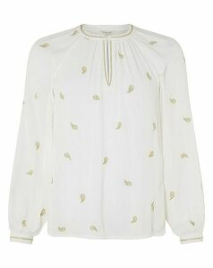 Monsoon Pia Embroidered Ecovero Top
