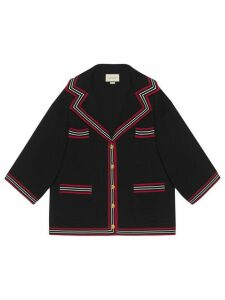 Gucci Silk cotton cardigan with stripes - Black