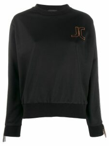 Just Cavalli embroidered logo sweatshirt - Black