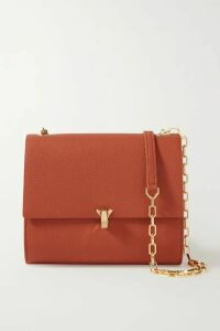 THE VOLON - Po Moon Textured-leather Shoulder Bag - Brick