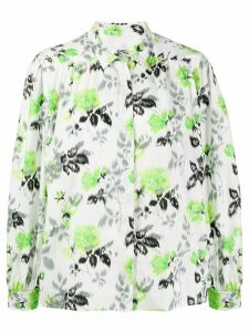 MSGM printed boxy shirt - Green