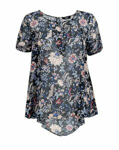 Koko Dark Florals Printed Top
