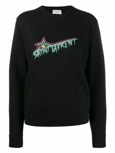 Saint Laurent Logo print sweatshirt - Black