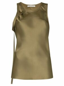 Helmut Lang strap detail blouse - Green