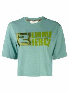Fendi femme fierce T-shirt - Blue