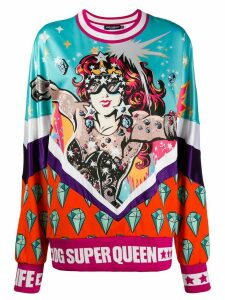 Dolce & Gabbana Super Queen print sweatshirt - White