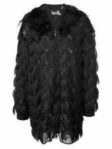 Haculla fringed coat - Black