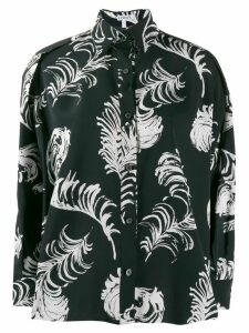 Loewe floral flared shirt - Blue