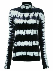 Proenza Schouler Tie Dye Velvet Turtleneck Top - Blue