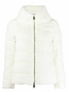 Herno quilted faux-fur jacket - White