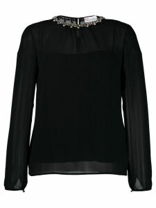 RedValentino crystal collar blouse - Black