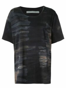 Raquel Allegra tie-dye print T-shirt - Black