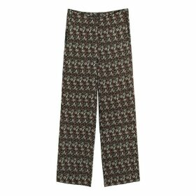 Wide Leg Trousers in Floral Print, Length 27