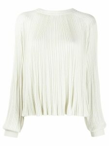 Chloé pleated knitted top - White